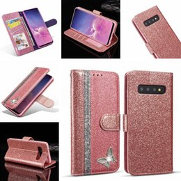 glitter bling frame UK - Glitter Diamond Wallet Leather Case For Iphone 11 PRO MAX X XS XR 8 7 Samsung S10E S10 S9 NOTE 10 PRO Bling Stand ID Card Photo Frame Cover