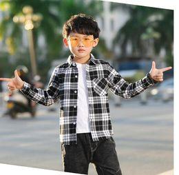 $enCountryForm.capitalKeyWord Australia - Brand Designer Children's Short Sleeve Boys and Girls 100% Cotton Plaid Print Short Sleeve   Shirt Fashion Casual Short Sleeve T-Shirt
