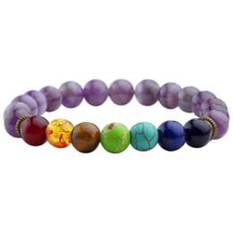 Prayer Beads Bracelet Men Australia - 7 Chakra Bracelets Natural Stone Black Lava Beads Bracelet Women Men Balance Yoga Jewelry pulseira feminina Buddha Prayer
