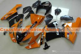 Body Ninja Zx Australia - 3 Free gifts New Fairing kits for 05 06 ZX 6R 636 2005 2006 Ninja ZX6R ZX636 ABS fairings Body kits hot sales nice black orange