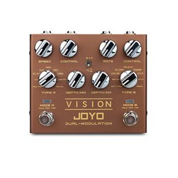 Pedal effect joyo online shopping - JOYO R VISION Electric Guitar Effect Pedal Processor Dual Channel Modulation Digital Pedal Effects Stereo left handed guitar