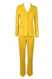 High Quality Jumpsuits Australia - 2018 2 two piece yellow Button long sleeve High Quality v neck evening Women Jumpsuit Knitted celebrity party Bandage jumpsuits