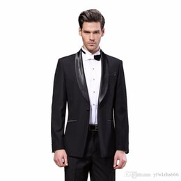 ivory tuxedos for sale UK - Hot Sale Shawl Lapel Wedding Tuxedos Slim Fit Suits For Men Groomsmen Suit Two Pieces Cheap Prom Formal Suits (Jacket+Pants+Tie) 284