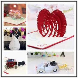 $enCountryForm.capitalKeyWord Australia - 3D pop up card Valentine's Day wedding greeting card Paper cutting Heart-shaped Paper Invitation Party Decorations