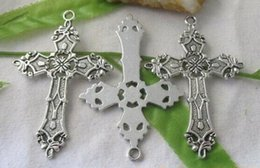 $enCountryForm.capitalKeyWord NZ - 50pcs Tibetan Silver CROSS Charms Pendants 37x56mm For European Men Women Jewelry Necklace Bracelet Earrings Accessories