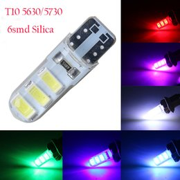 silica car Australia - 10pcs New Arrival T10 192 W5W 6 SMD 5630 5730 LED Silica Wedge Light Car Parking light Auto Clearance Lights 12V
