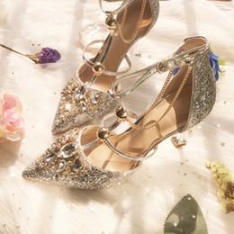 $enCountryForm.capitalKeyWord NZ - 2019 Fashion Silver Luxury Beaded Sequined Designer Women Wedding Shoes High Heels 8.5cm 6cm Pointed Toes Pumps Wedding Dress Shoes Big Size