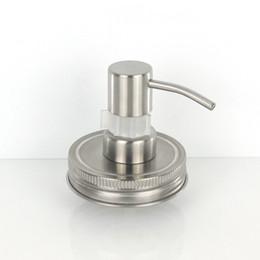 $enCountryForm.capitalKeyWord Australia - Dispenser Stainless Steel Soap Liquid Mason Jar (jar not include) Lid Glass Wholesale Matt Silver Lotion Pump With Clip Lock