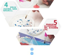 sticky toys UK - Craft Toys Cartoon Sticky Paper Painting DIY diamond Painting Creativity Handicraft 3D Puzzle girls toys SG8