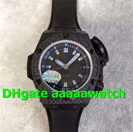 V6 Men Watch Australia - V6 Top Luxury Watch 731.QX.1190.GR Watch 48mm Diver 4000 Forged Carbon Fiber Blue Marker Black Rubber A.7750 Automatic Men Watch