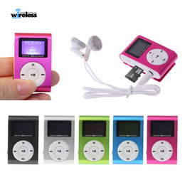 Wholesale pink card reader resale online - Mini USB Metal Clip Music MP3 Player LCD Screen MP3 Player Support FM GB Micro SD Card Slot