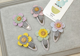 sunflowers hair clips NZ - Children Cute Sun Flower Bow Hairpin Girls Baby Hair Clip Jewelry Sunflower Barrettes Hair Accessories Wholesale