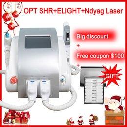 OPT SHR IPL máquina a laser remoção de cabelo rápido Nd Yag remoção de tatuagem a laser Elight Rejuvenescimento Da Pele alexandrita máquina a laser