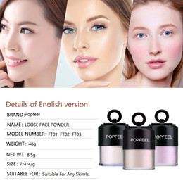 Sun Blocks Australia - Private Label 3 Colors Face Makeup Loose Powder Sun Block Natural Bright Matte Oil Control Concealer Sets With Puff DHL Free Fast Shipping