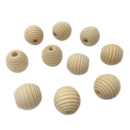 Wooden threading beads online shopping - 100 mm x mm Wooden Beads Unfinished Natural Screw Thread Bead Stripe Ball Shaped DIY Wooden Fitting
