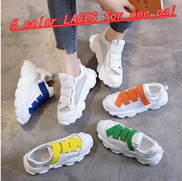 $enCountryForm.capitalKeyWord NZ - Real leather mesh AB shoes spring and summer new candy color Velcro thick - soled daddy shoes