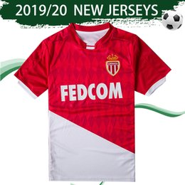Et shirt online shopping - 2020 Monaco Football Club Home Soccer Jersey Les Rouge Et Blanc FALCAO Football Shirt JOVETIC Football Uniforms Sales