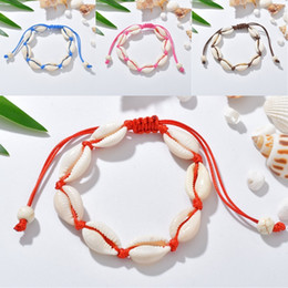 $enCountryForm.capitalKeyWord NZ - 10 Styles Natural Cowrie Shell Bracelets Bangle Casual Jewelry Handmade Bracelet Bohemian White Seashell Gifts for Women Teen Girls M398F