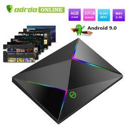 Android Tv Usb Player Australia - Allwinner H6 Android 9.0 TV Box 6K Ultral HD Streaming Media Player 4GB 32GB Quad Core Smart Mini PC 2.4G Wifi M9S Z8 Set Top Box 6K USB 3.0