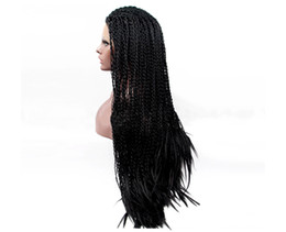 Brown Hair Braid UK - Hot selling fashion high quality long hair braid lace frontal wigs for Afro 24 inch elastic lace cap with weaving cap free shipping