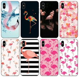 galaxy paintings Canada - [TongTrade] Pink Cute Bird Flamingo Painted Case For iPhone 11 Pro Max X XS XR 6s 5s 5c Plus Galaxy J3 J5 Honor 5X 6X 7X HTC Desire 628 Case