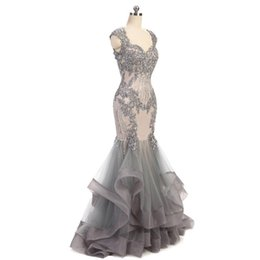 $enCountryForm.capitalKeyWord UK - Luxurious Sweatheart Mermaid Evening Dresses Lace Applique Beaded Tiered Skirts Evening Dress Celebrity Gowns Custom Made Evening Gowns