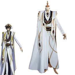 costume ver 2019 - Lelouch Lamperou CODE GEASS Cosplay Lelouch of the Rebellion Emperor Ver. Uniform Costume Anime CODE GEASS Cosplay