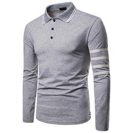 $enCountryForm.capitalKeyWord Australia - High Quality Solid Color Polo Shirt Casual Polo Shirt Men's Long Sleeve Polo Shirt 2019 New Striped Men Polos J1907101