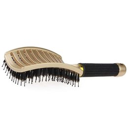 curved hair brush Australia - 2019 Big Curved Comb Anti-Static Air Cushion Massage Bristle Plastic Comb Blow Drying Brush for Men Hair Tool