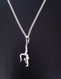 $enCountryForm.capitalKeyWord NZ - Gymnastics Gymnast Necklace Dance Athlete Vintage Silver Charm Choker Chain Collar Statement Necklace Pendants Jewelry Fashion Women Gift