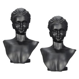 displays for boutiques NZ - 2x Boutique Counter Mannequin Bust Display Rack For Necklace Pendant Earring