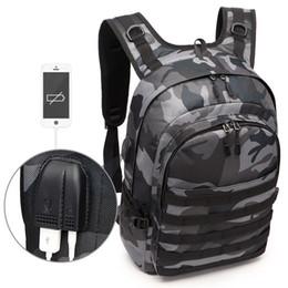 Jacks Pack Australia - Pubg Backpack Men Bag Mochila Pubg Battlefield Infantry Pack Camouflage Travel Canvas Usb Headphone Jack Back Bag Knapsack New Y19061004