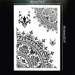 $enCountryForm.capitalKeyWord Australia - Free Shipping A2 Size DIY Craft Reusable Flexbile Mandala Stencils Template For Wall Floor Painting Decorative
