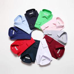 $enCountryForm.capitalKeyWord Australia - 2018 Brand 10 Colors Soft Cotton Casual Shirts Men High Quality Men's Wedding Shirt Long Sleeve Formal Dress Shirt Solid Y190506