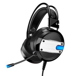 Discount bass pc game - Wired Gaming Headset Deep Bass Game Earphone Headphones with Microphone LED Light Headphones For PC Laptop Computer Feat