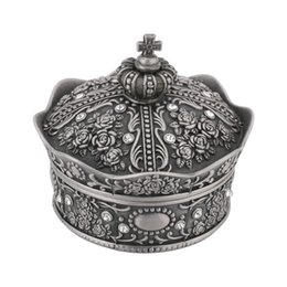 $enCountryForm.capitalKeyWord Canada - Jewelry Storage Box for Necklace Bracelet Ring Earring Display Crown Shaped Rose Flower Jewelry Organizer Case Home Decoration