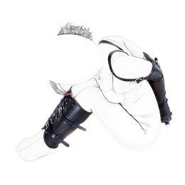 $enCountryForm.capitalKeyWord Australia - Fetish Bondage Restraint Kits Arm Cuff & Leg Binder Hand Wrist Ankle Bound Slave Restraint Set PU Leather Role Play Adult Sex Products