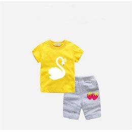 $enCountryForm.capitalKeyWord NZ - good quality girls summer clothing sets kids cotton casual t-shirt+short pants 2pce tracksuits for baby girls children sports sets
