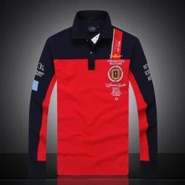 $enCountryForm.capitalKeyWord Australia - Autumn Mens Polos With Patterns Fashion Brand Polo Shirts For Mens Tee Shirts Luxury Long Sleeve Mens Tops Clothing M-2XL 3 Colors