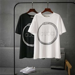 python shirt 2019 - 19ss new fashion brand Paris design python print T-shirt men and women breathable fashion street windbreaker sweatshirt