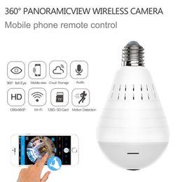 $enCountryForm.capitalKeyWord Australia - Home Security Led Light bulb Wifi IP Camera HD 960P 360 Degree Panoramic Bulb Camera Wireless network baby monitor Two Way Audio