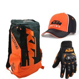 Moto Helmet Bag per KTM Moto zaino spalle Laptop Top Case Mens bagagli del motociclo di motocross impermeabile del casco della bicicletta Bag in Offerta