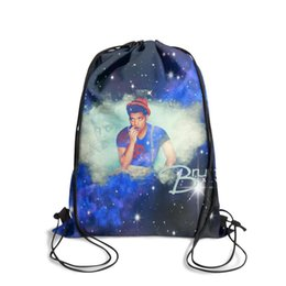 China Drawstring Sports Backpack awesome Singer Bruno Mars wallpaper cool convenient pull string Travel Fabric Backpack suppliers