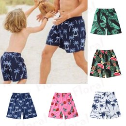 cute high waist swimwear 2019 - Summer Swimming Trunks Cute Family Matching Swimwear Father Kid Beachwear Swimming Briefs Bikini Shorts High Waist Swim
