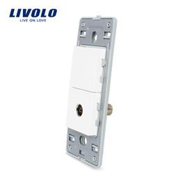 Function Connectors Australia - Livolo US Standard DIY Parts Plastic Materials Function Key, 1Gang TV Socket Base,powre wall socket base