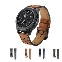 Browning Gear Australia - 22mm Genuine Leather Strap Band for Samsung Gear S3 Frontier Classic Smart watch bracelet Watchband smartwatch wrist belt