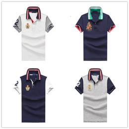 Wholesale mixed polo shirts for sale – custom new cotton teens polo shirt Short sleeve designer t shirts box logo Slim cotton polo shirt men lapel mixed color mens polo shirt