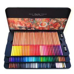 Toptan satış Marco Renoir kutularıyla 24/36/48/72/100 Renkler Kalem Seti Boyama Kalemler Renkli kalemler Boyama Çizim Kalemleri Set Toptan profesionales
