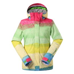 snow clothing jacket Australia - GSOU SNOW Ladies Ski Suit Single Double Board Waterproof Windproof Breathable Ski Jacket For Women Winter Warm Cotton Clothes