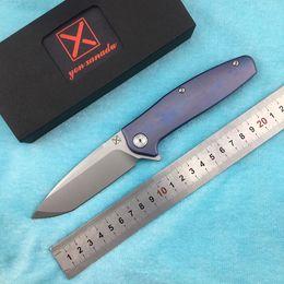 $enCountryForm.capitalKeyWord NZ - X-750 NEW folding knife Ball bearing VG-10 blade Titanium handle camping hunting Outdoor pocket fruit knives EDC tools